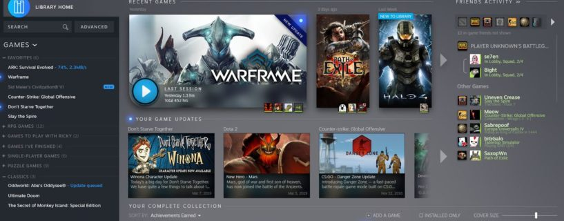 Valve redesigns Steam game library, adding Steam Events - PCgamer no